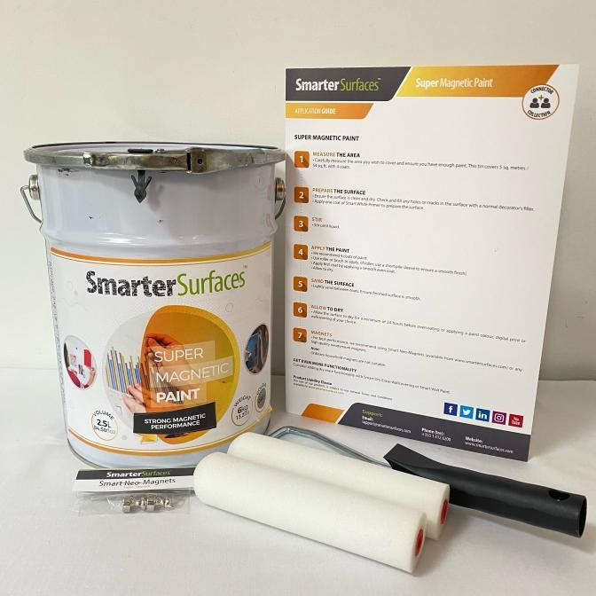 Pintura-Súper-Magnética-kit-completo-guía-de-aplicación-e-imanes