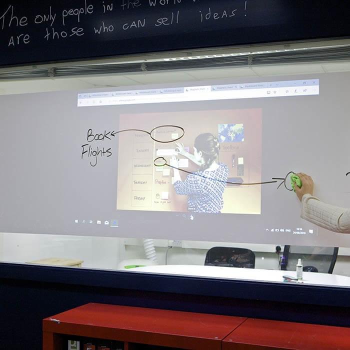 rollo-autoadhesivo-pizarra-blanca-y-proyector-para-proyectar-imagenes-y-escribir